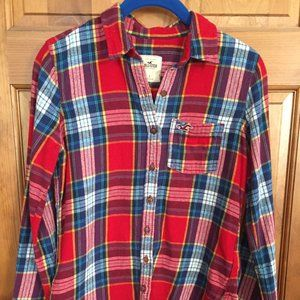 Hollister Flannel Long Sleeve Button Down
